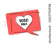 1000 likes thank you card.... | Shutterstock .eps vector #1063793558