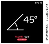 angle 45 degrees vector icon...