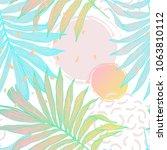 nature seamless pattern. hand... | Shutterstock .eps vector #1063810112