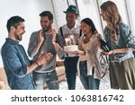make a wish  happy young man... | Shutterstock . vector #1063816742