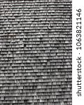 wood shingles background   alte ... | Shutterstock . vector #1063821146