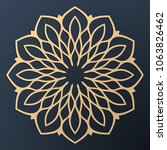 laser cutting mandala. golden... | Shutterstock .eps vector #1063826462