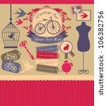 vintage objects scrapbook...   Shutterstock .eps vector #106382756