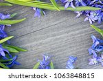 Bouquet Of Flowers On Wooden...