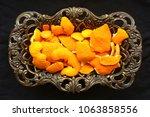 Orange Peel In Antique Plate