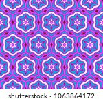 vector floral geometric... | Shutterstock .eps vector #1063864172