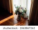 wedding flower ceremony | Shutterstock . vector #1063867262