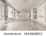 luxurious vintage interior with ... | Shutterstock . vector #1063868822