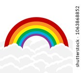 color rainbow with clouds ...   Shutterstock .eps vector #1063868852