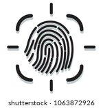 fingerprint scan icon as eps 10 ... | Shutterstock .eps vector #1063872926