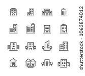building line icon set | Shutterstock .eps vector #1063874012