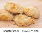 pile of oatmeal cookies on... | Shutterstock . vector #1063874426