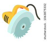 electric saw icon. isometric...