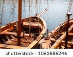fragments of wooden sailing... | Shutterstock . vector #1063886246