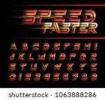 vector of futuristic alphabet... | Shutterstock .eps vector #1063888286