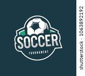 football  soccer logo. sport... | Shutterstock .eps vector #1063892192