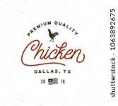 premium fresh chicken meat... | Shutterstock .eps vector #1063892675