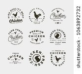 set of premium fresh chicken... | Shutterstock .eps vector #1063892732