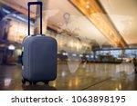 smart baggage with built in gps ... | Shutterstock . vector #1063898195