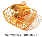 consumer's basket with question.... | Shutterstock . vector #10638997