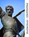 Small photo of SAN DIEGO CA USA APRIL 11 : The 23 foot tall statue of Rodrigo Diaz de Vivar (El Cid) of Spain's war against the Moors. Balboa Park San Diego. On april 11 2015