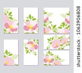set of flower wedding ornament... | Shutterstock .eps vector #1063906808