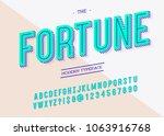vector fortune font trend... | Shutterstock .eps vector #1063916768