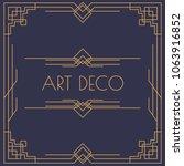 art deco and arabic invitation... | Shutterstock .eps vector #1063916852