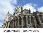 cathedral in bayeux  normandy | Shutterstock . vector #1063919042