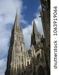 cathedral in bayeux  normandy | Shutterstock . vector #1063919066