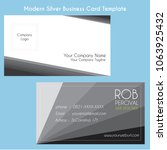 modern silver business card... | Shutterstock .eps vector #1063925432