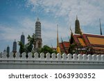 grand palace and wat phra keaw  ... | Shutterstock . vector #1063930352