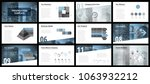 business presentation templates.... | Shutterstock .eps vector #1063932212