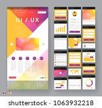 website template design with... | Shutterstock .eps vector #1063932218