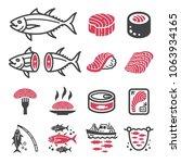 tuna icon set | Shutterstock .eps vector #1063934165