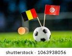 belgium   tunisia  group g ... | Shutterstock . vector #1063938056