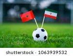 morocco   ir iran  group b ... | Shutterstock . vector #1063939532