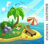 vector illustration. a resort... | Shutterstock .eps vector #1063939838