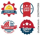 labor day vector label for... | Shutterstock .eps vector #1063944386