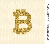 golden vector bitcoin symbol.... | Shutterstock .eps vector #1063947242