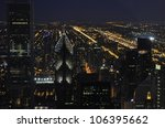 the chicago skyline at night | Shutterstock . vector #106395662