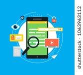 online smartphone browsing ... | Shutterstock .eps vector #1063963112
