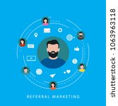 referral marketing campaign ... | Shutterstock .eps vector #1063963118