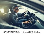 smiling african businessman...   Shutterstock . vector #1063964162