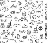seamless pattern. set of doodle | Shutterstock .eps vector #1063974116