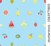 seamless pattern with cute... | Shutterstock .eps vector #1063975805