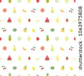 seamless pattern with cute... | Shutterstock .eps vector #1063975808