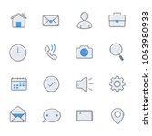 internet web icons  vector... | Shutterstock .eps vector #1063980938
