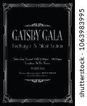 silver great gatsby gala...   Shutterstock .eps vector #1063983995