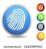fingerprint scan icon as eps 10 ... | Shutterstock .eps vector #1063989902